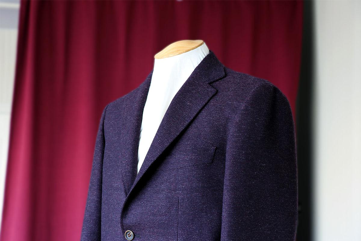 345eb1f24ceb9 ワインレッドのホップサックジャケット