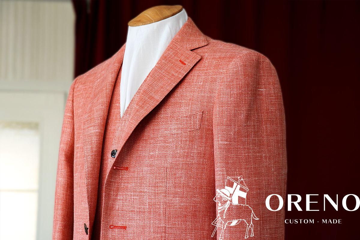三者混の鮮やかなオレンジジャケット