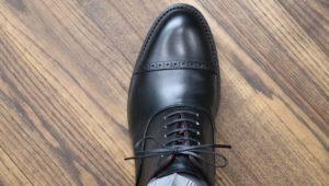 ウイングチップなどで見る革靴のブローグ