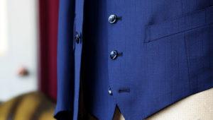 オフホワイトのワッフル生地で作るジャケット&ベスト