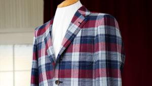 モヘア生地の大人気柄で作るビジネススーツ