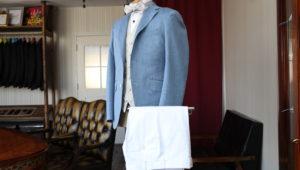 ドラゴの生地で仕立てるサマースーツ