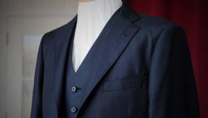 アリストンのセンスの効いたウインドペン生地で仕立てるジャケットスタイル
