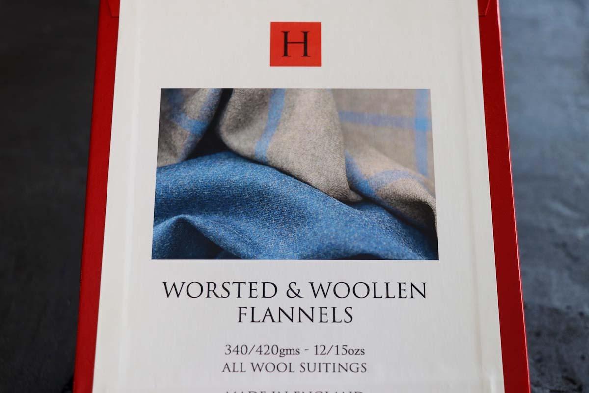 イギリスの名門「HARRISONS OF EDINBURGHWORSTED & WOOLLEN FLANNELS(ハリソンズオブエジンバラ ウーステッド&ウーレン フランネルズ」