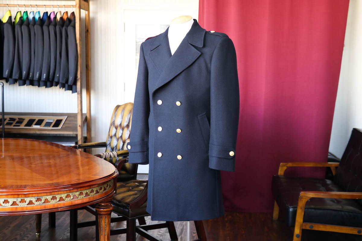 Pコートの襟をオリジナル仕様で仕立てる