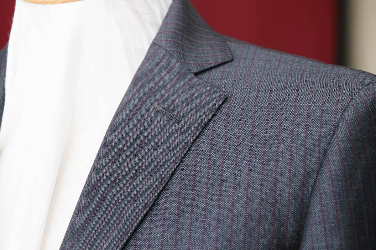 ストライプで変わるスーツの印象「イタリア生地のストライプ」