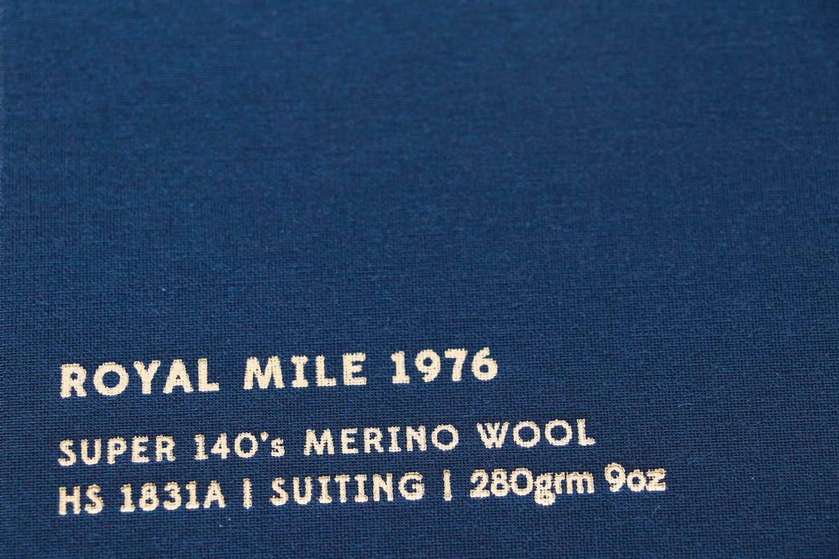 イギリスの高級服地ブランド「Holland&SherryRoyal Mile 1976(ホーランド&シェリー ロイヤルマイル1976)
