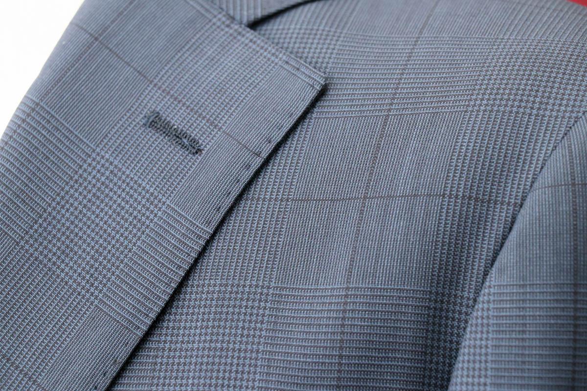 トレーニョのちょうど良いグレンチェックのスーツの納品