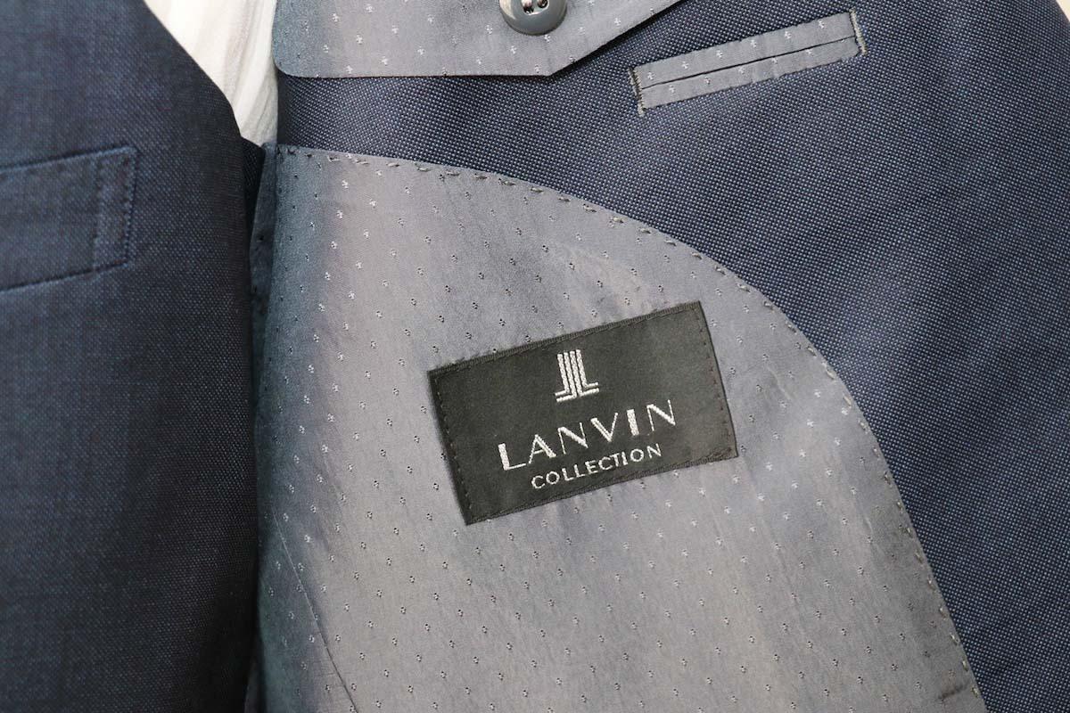 フランスの高級ブランド「ランバン」のネイビースーツのオーダー