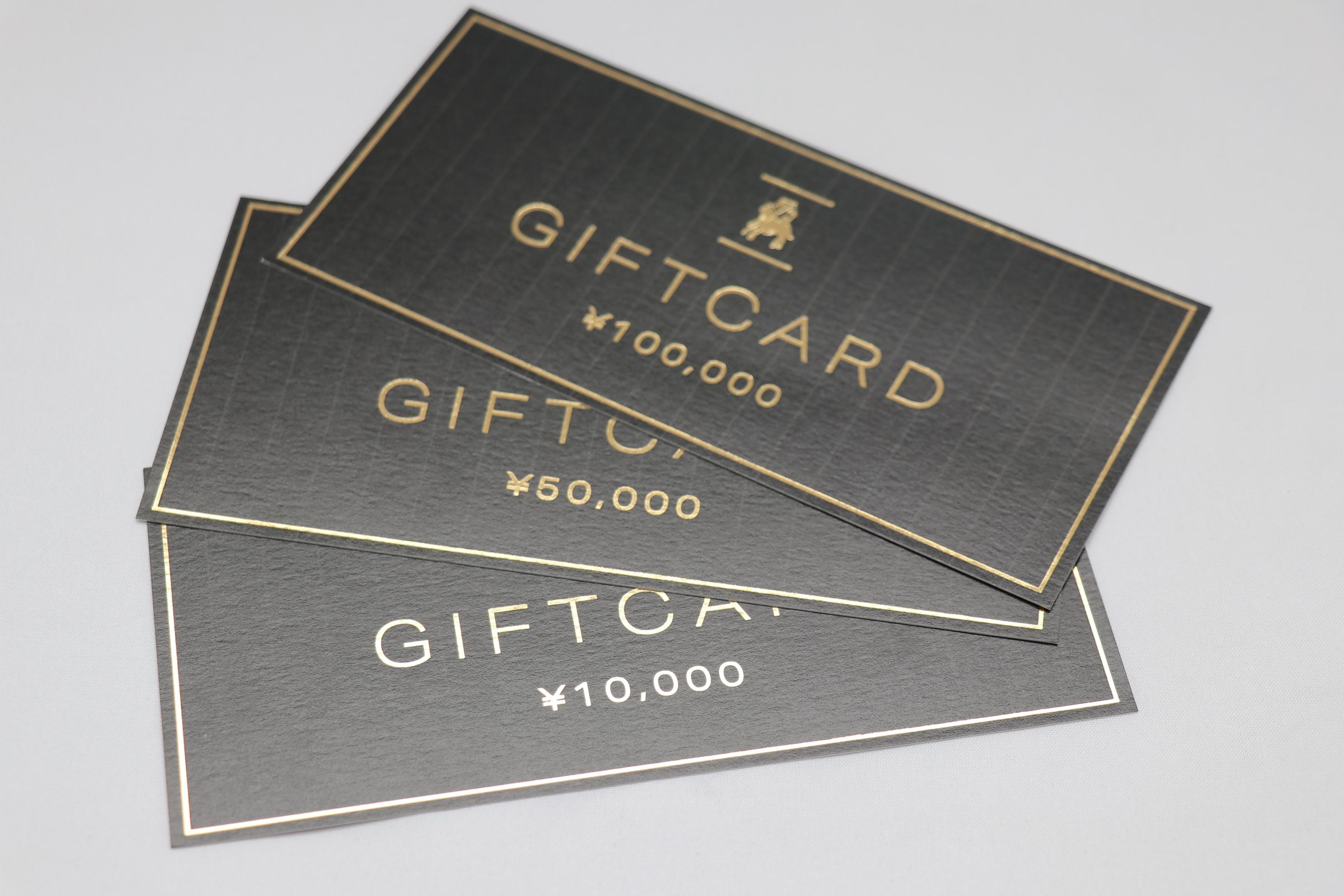 ギフトカードの販売を開始いたしました♪