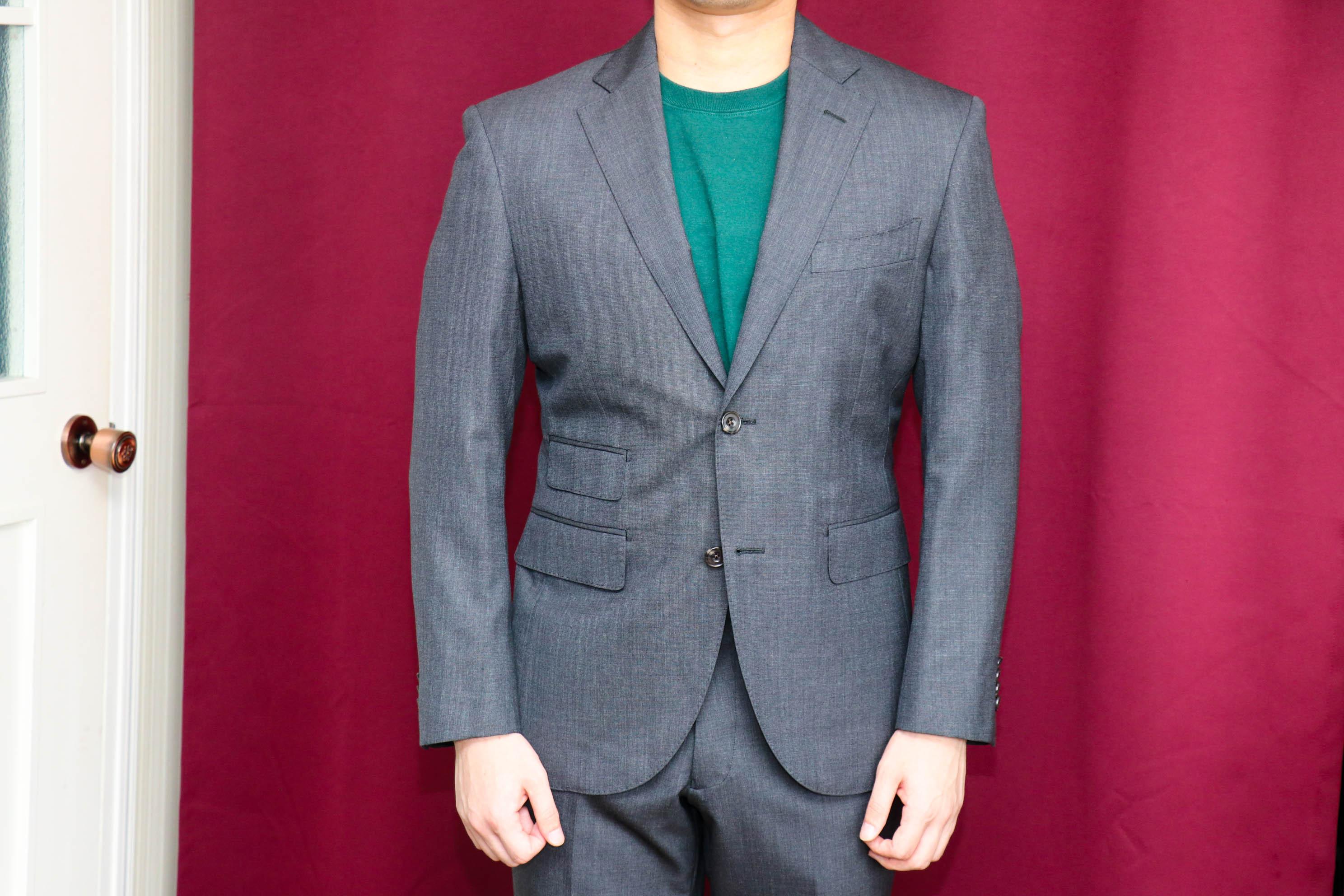 イギリス、ウッドヘッドの生地で作るブリティッシュビジネススーツ