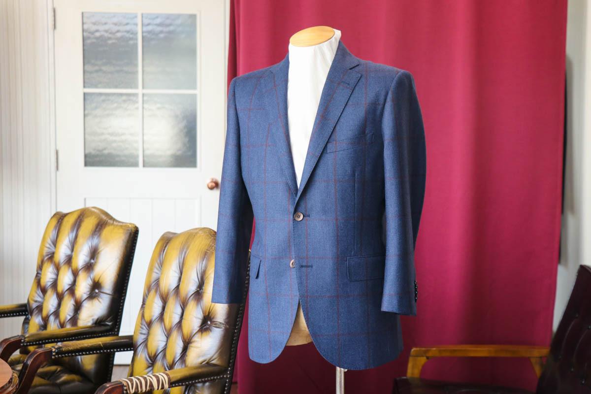 ダロウデイルの大きめのグレンチェックで仕立てるスーツ