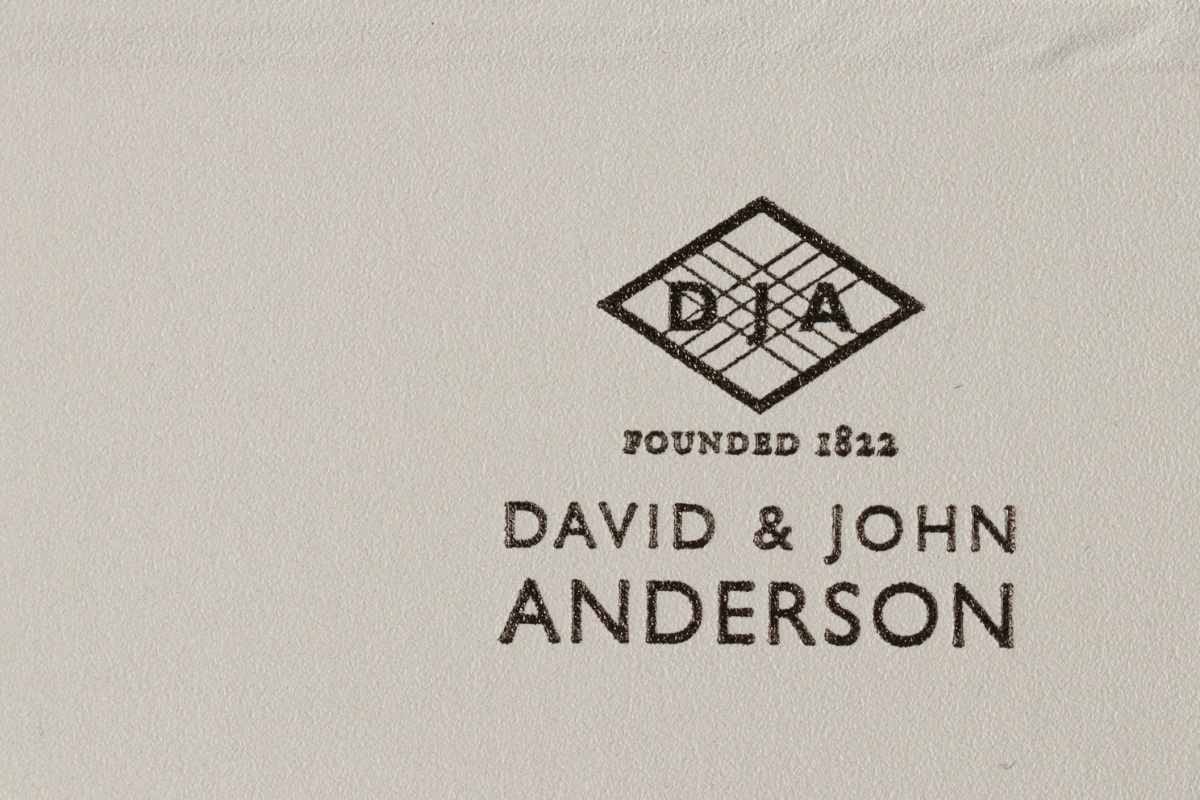 世界最高峰のシャツ生地【DAVID & JOHN ANDERSON】